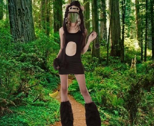 Шаблон для фотошопа - Костюм обезьянки