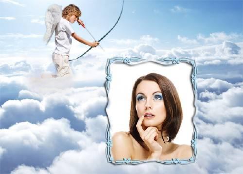 Рамка для фотографии - Амур в облаках