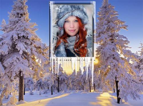 Фоторамка - Зимний закат