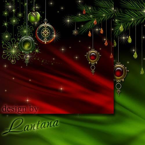 PSD исходник - Волшебный праздник новогодний 31