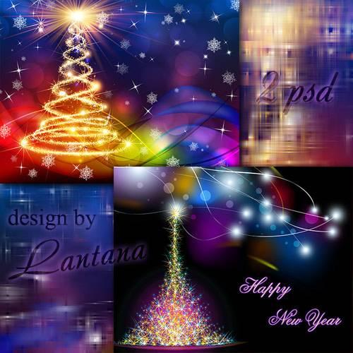 Многослойные фоны - Волшебный праздник новогодний 34