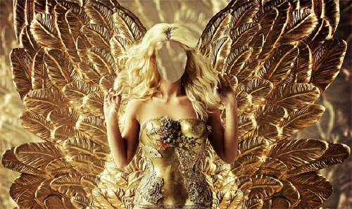 Photoshop шаблон - Окутана золотом