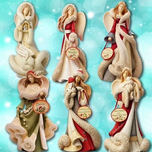 Клипарт – Рождественские ангелы Karen Hahn