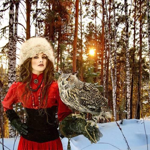 Шаблон  женский – Кудесница леса