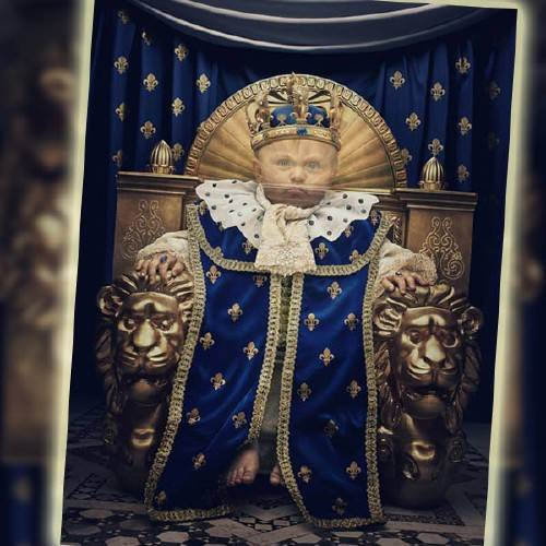 Шаблон для маленьких - Маленький царь на своем троне