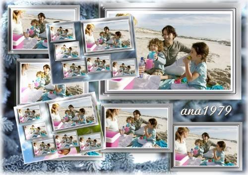 Рамка для фотошопа - Мне послана судьбой моя семья