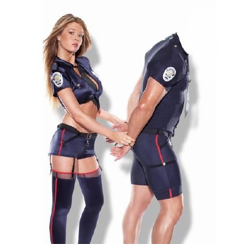 Мужской фото шаблон - Пойман красивой полицией