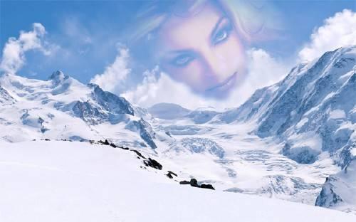 Рамка для оформления - Снежные горы