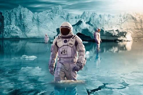 Шаблон для фотошопа - На неизведанной планете