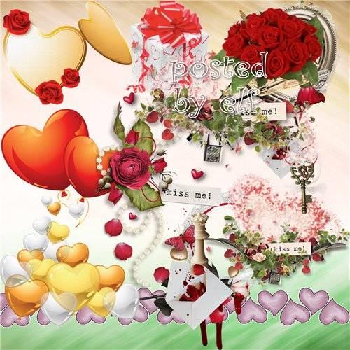 Романтический клипарт в png - Любовь - это море эмоций без дна