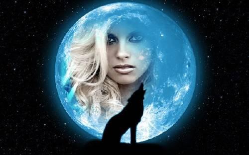 Фоторамка для фотошопа - Полная луна