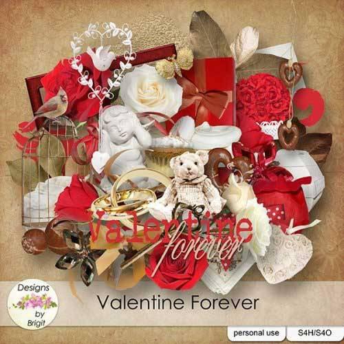 Романтический скрап-комплект - Valentine Forever