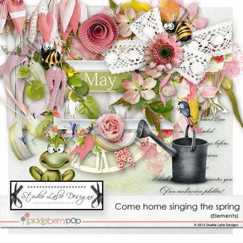 Весенний скрап-набор - Come home singing the spring