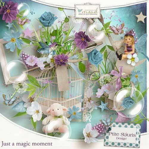 Цветочный скрап-набор - Просто волшебный момент