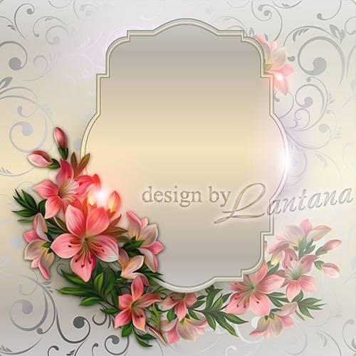 Psd исходник - Цветов розовых ласковый свет