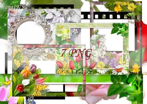 Набор рамок в png – И скоро к нам придет весна
