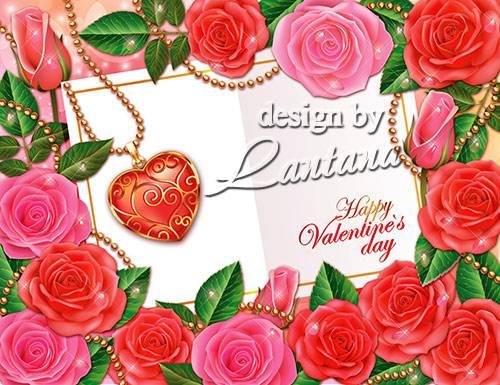 PSD исходник - Все розы мира для моей любимой