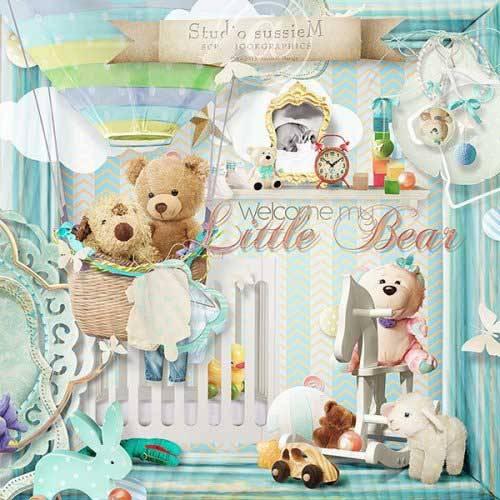 Детский скрап-набор - Приветствую тебя мой медвежонок