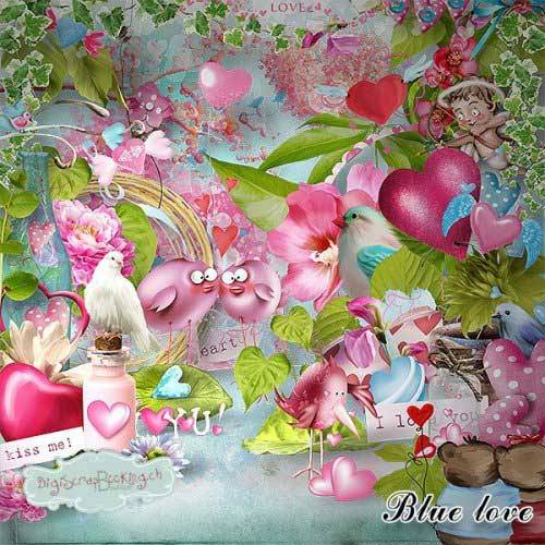Романтический скрап-набор - Blue Love
