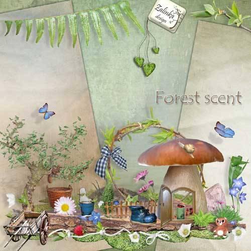 Весенний скрап-набор - Лесной аромат