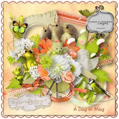 Весенний скрап-набор - Один день в мае