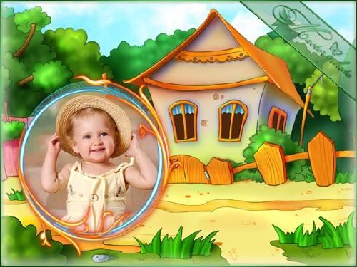 Детская рамка для фотошопа - Моя дача