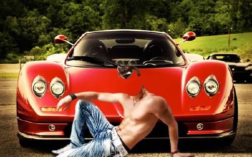 Шаблон для фотошопа - Дорогой спорткар
