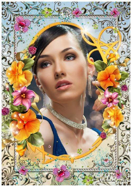 Цветочная рамка - Любимые цветы меня так ароматом манят