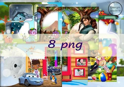 Сборник рамок в png - Детство всегда вместе с нами