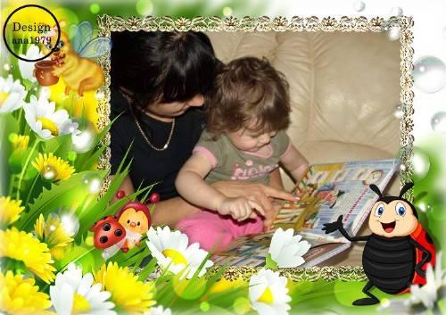 Детская рамка для фото – Ромашки и букашки
