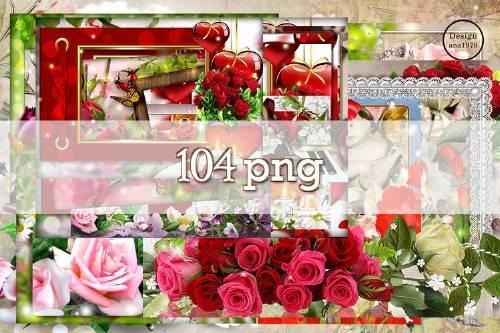 Мега сборник рамок в png – В окружении прекрасных цветов