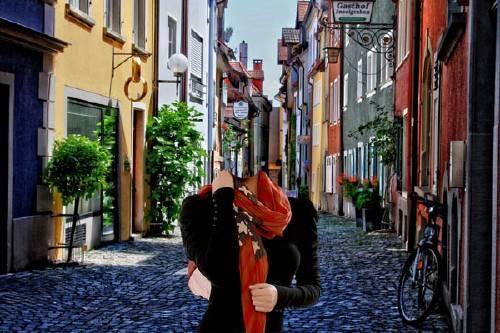 Photoshop шаблон - Прогулка по улицам в Германии