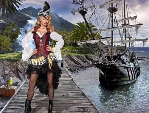 Шаблон  женский - Пиратская бухта