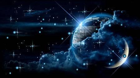 Футаж - Мерцание звёзд