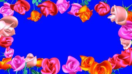 Футаж на хромакее - Рамочка из роз