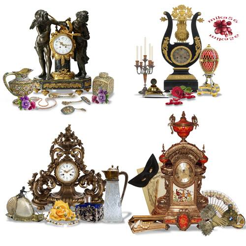 Клипарт – кластеры – Ещё идут старинные часы
