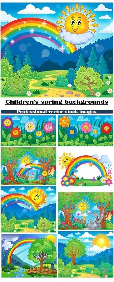 Детские весенние фоны