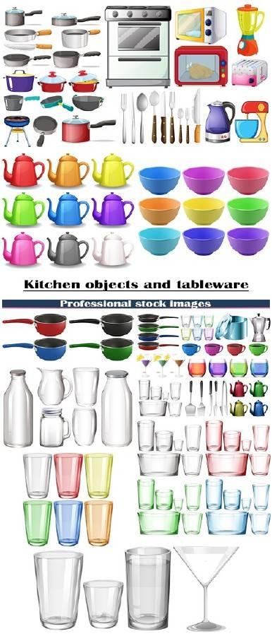 Кухонные объекты и посуда