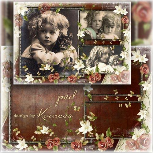 Романтическая рамка для фото - Старые фото из семейного альбома