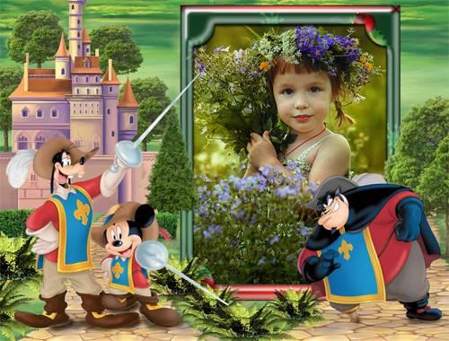 Рамка детская – Мушкетёры короля