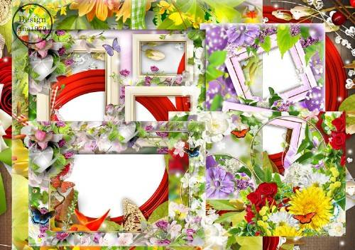 Набор рамок для фотошопа – Любовь, красота, цветы