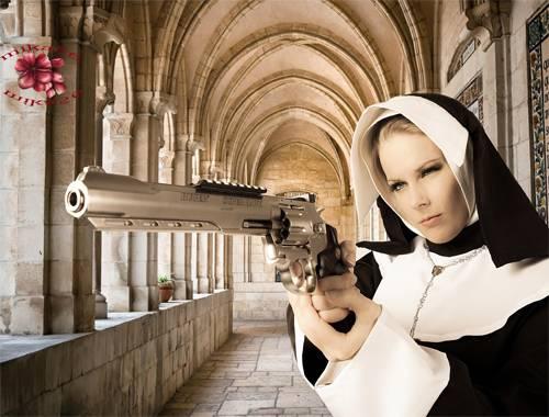 Шаблон  женский – Не промахнись, сестра
