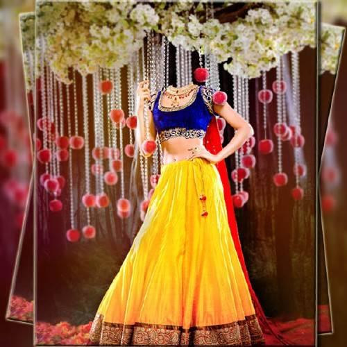Фотошаблон - В индийском платье