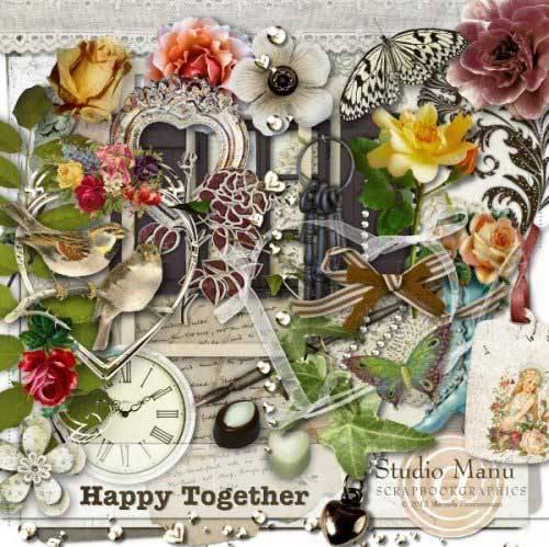 Винтажный скрап-набор - Счастливы вместе