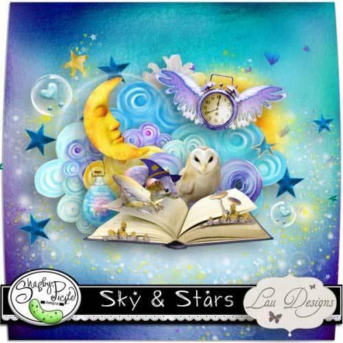 Детский скрап-набор - Небо и звезды