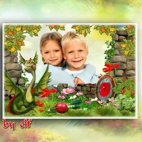 Детская рамка для фото - Рыцарский турнир
