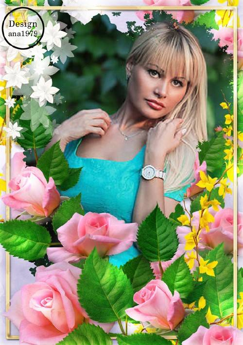 Рамка для фотошопа – Мой прекрасный цветок