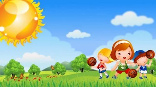 Детский футаж - Спортивные игры