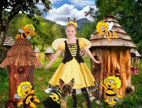 Шаблон  детский - Танец пчёлок