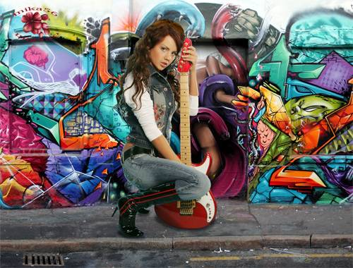 Шаблон  женский – Уличный музыкант